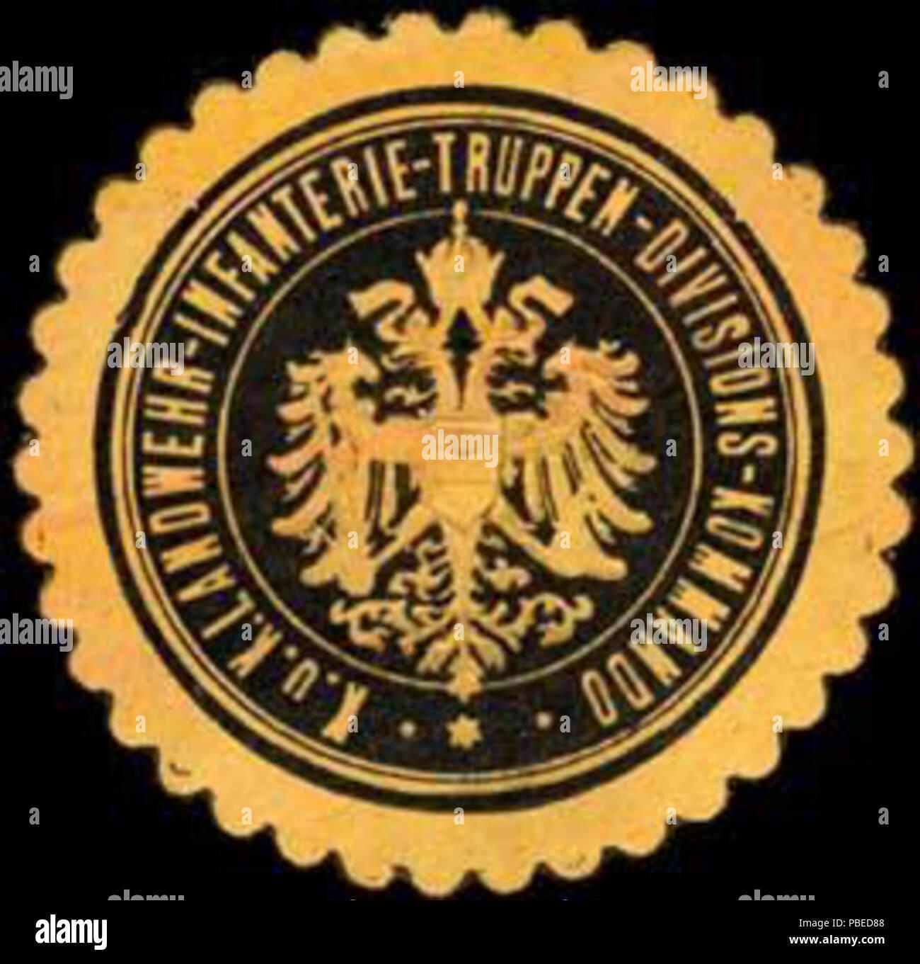 1435 Siegelmarke K.u.K. Landwehr-Infanterie-Truppen-Divisions-Kommando  W0261516