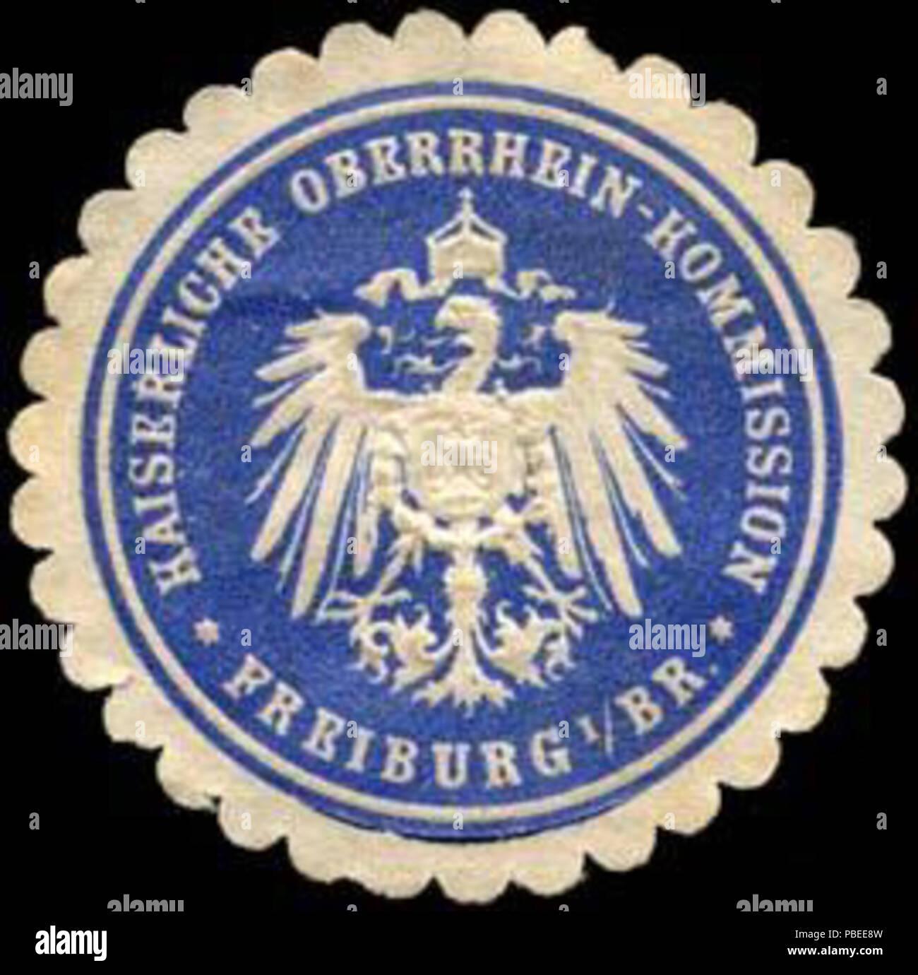 1439 Siegelmarke Kaiserliche Oberrhein - Kommission - Freiburg im Breisgau W0235056 Stock Photo