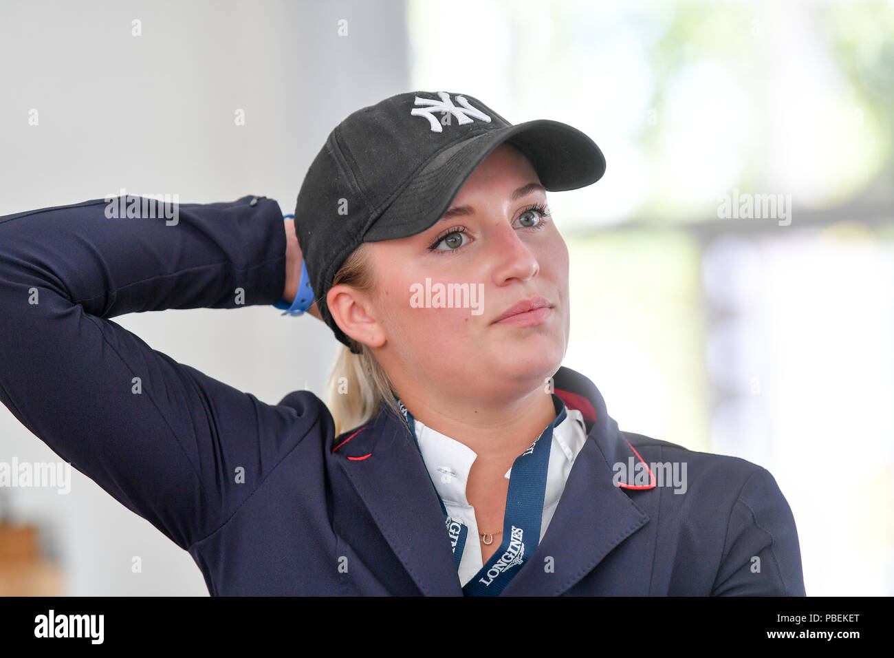 Berlin Germany 28th July 2018 Equestrian Sports Jumping