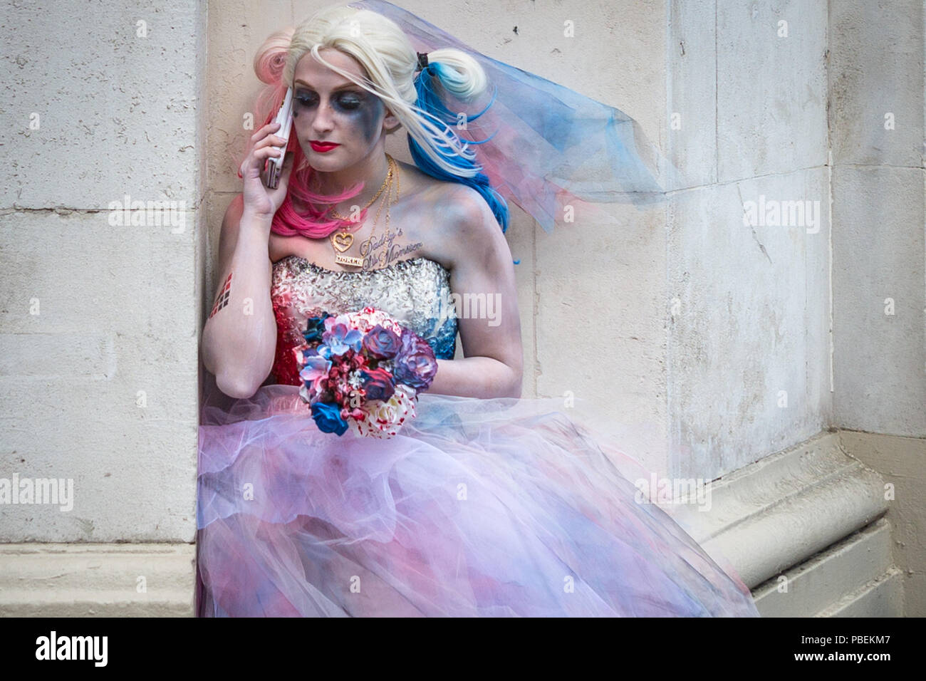 London, UK. 28th July 2018. London Film & Comic Con 2018 at the Olympia London. Credit: Guy Corbishley/Alamy Live News - Stock Image