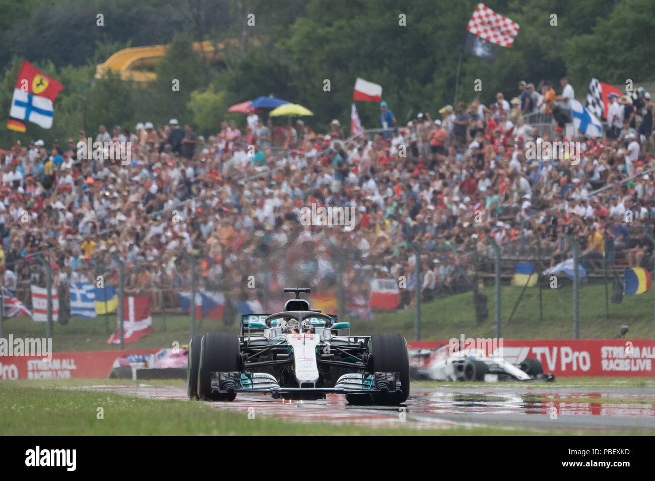 Mogyorod, Hungary  28th July, 2018  Mercedes AMG Petronas F1