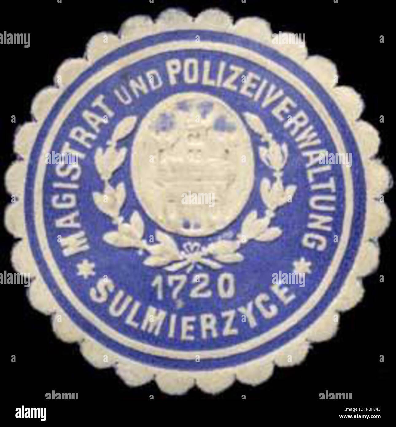 1487 Siegelmarke Magistrat und Polizeiverwaltung - Sulmierzyce W0260280