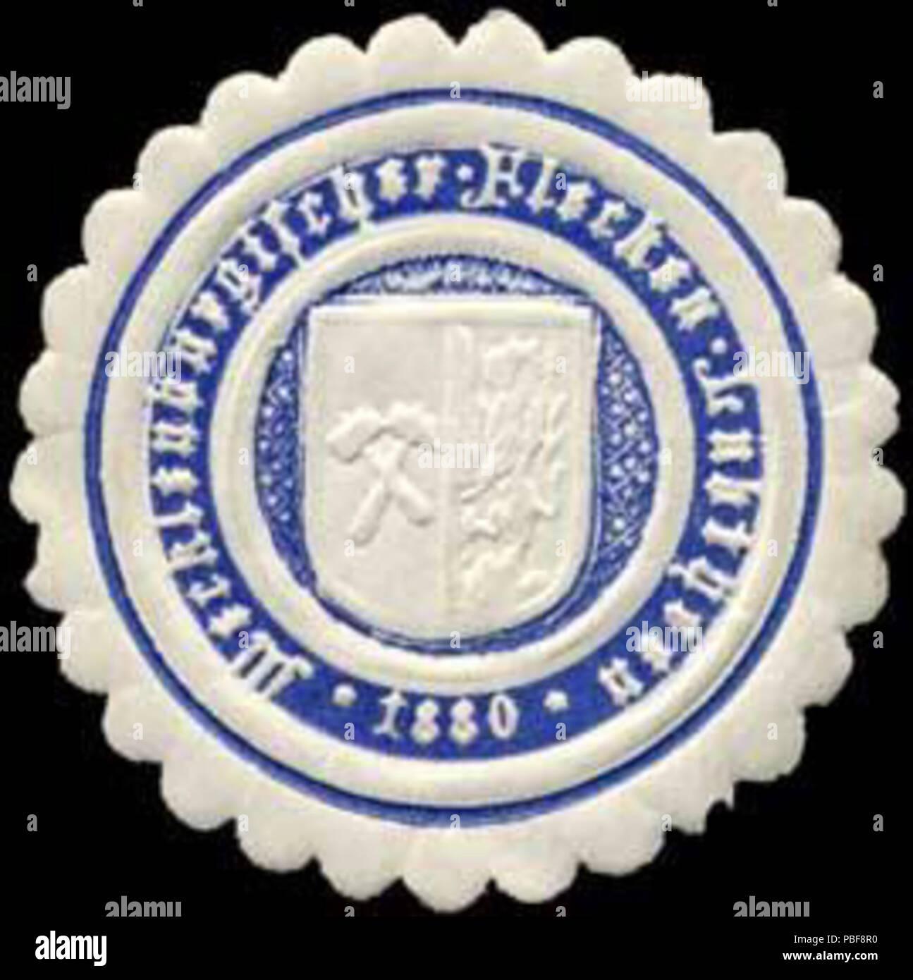 Alte Briefverschlussmarke aus Papier, welche seit ca. 1850 von Behoerden, Anwaelten, Notaren und Firmen zum verschliessen der Post verwendet wurde. 1492 Siegelmarke Mecklenburgischer Flecken Lübtheen W0309549 Stock Photo
