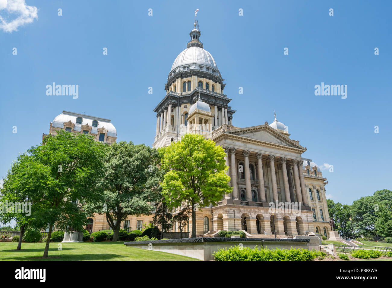 Illinois State Capital Building in Springfield, Illinois - Stock Image