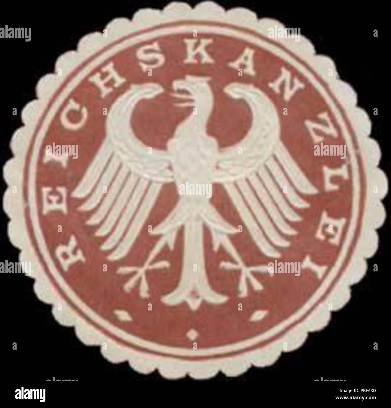 1501 Siegelmarke Reichskanzlei W0363137 Stock Photo