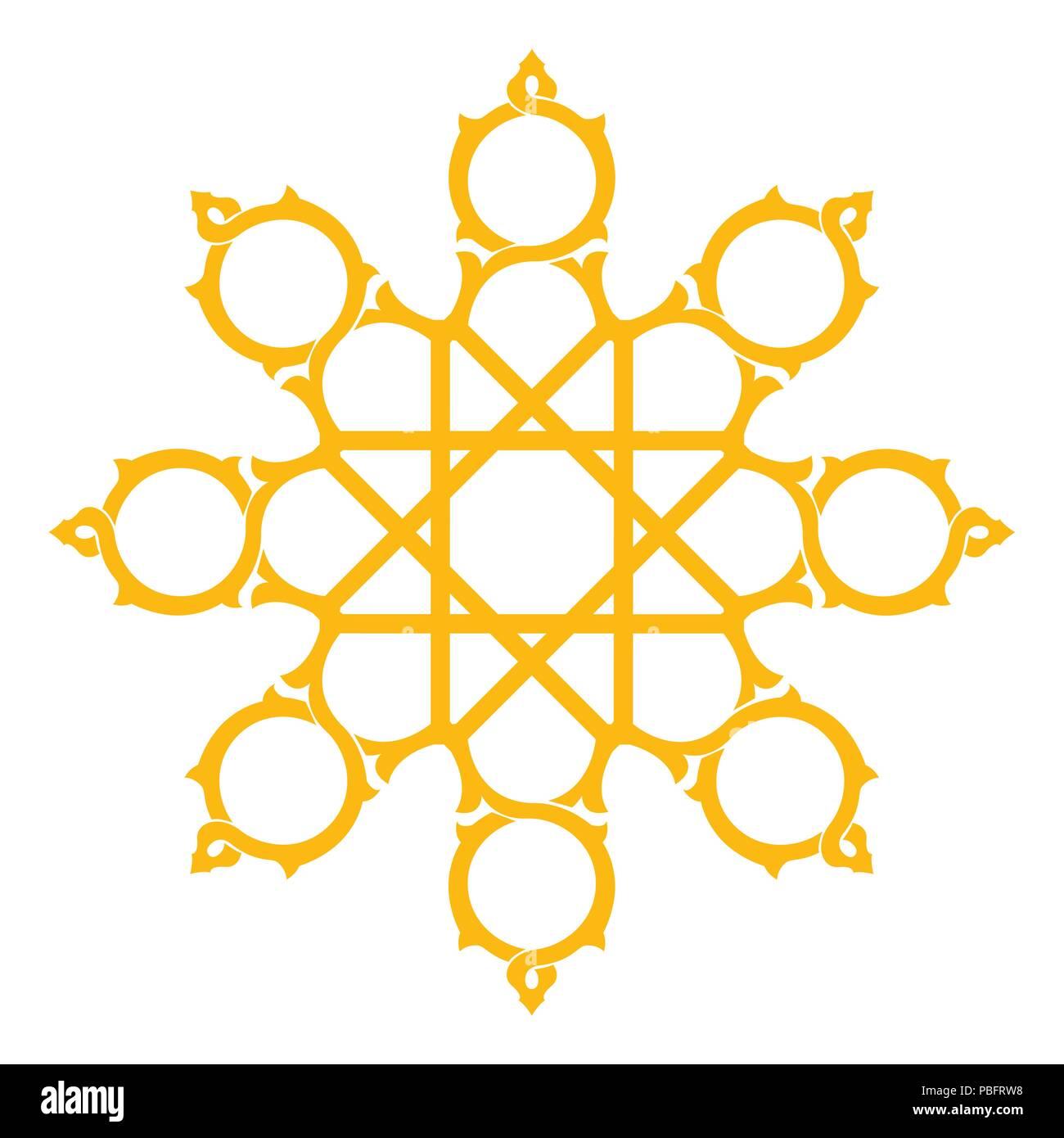 arabesque star shape artistic design element stock vector art rh alamy com Bracket Shape Line Shapes Clip Art