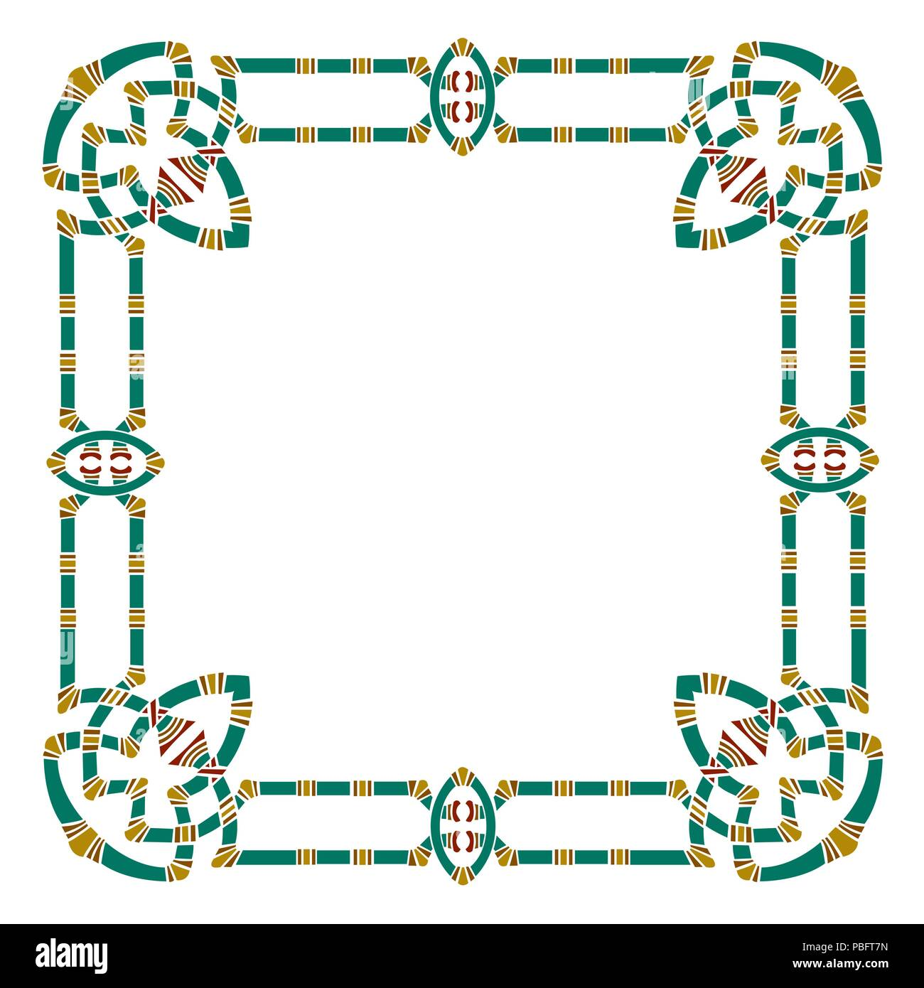 Ancient style square border, antique frame shape Stock Vector Art ...