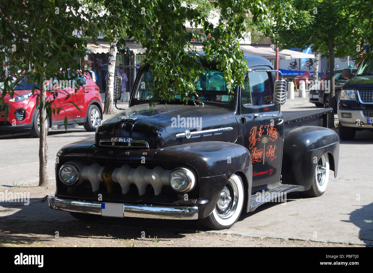 Annual Classic Car Week in Rättvik,Dalarna/Sweden 26.07.2018 - Stock Image