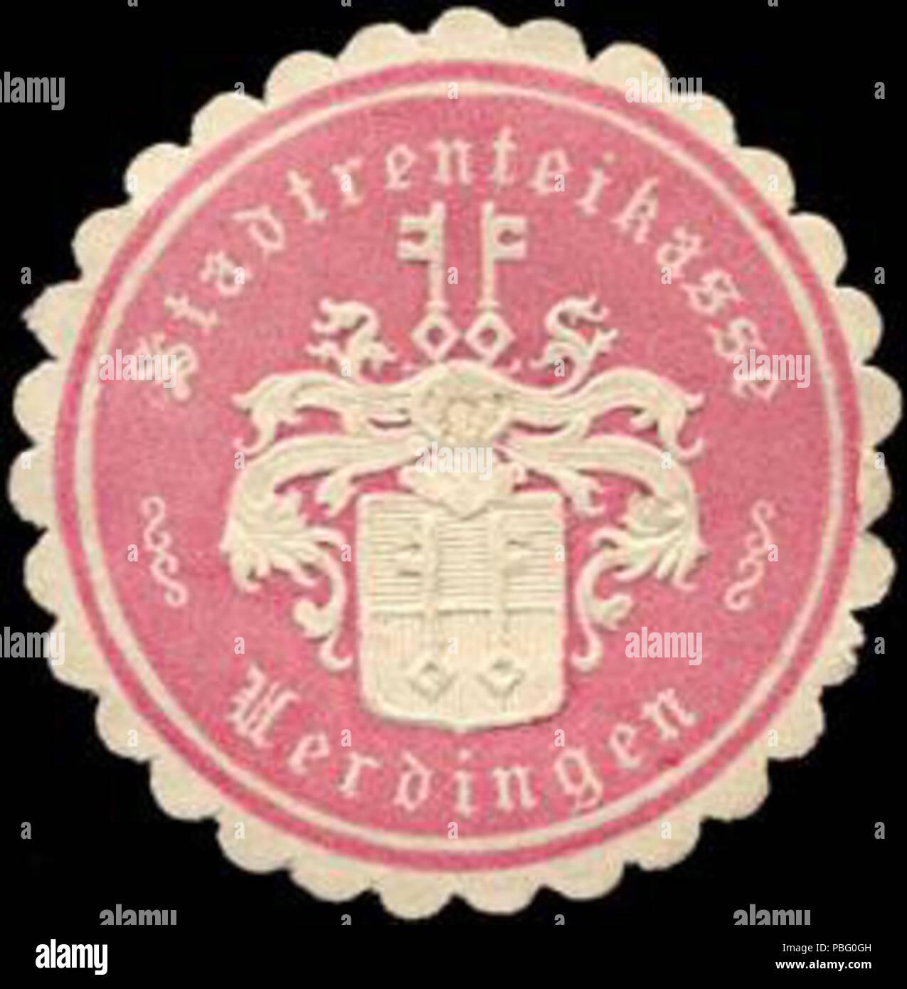 1528 Siegelmarke Stadtrenteikasse - Uerdingen W0216983 - Stock Image