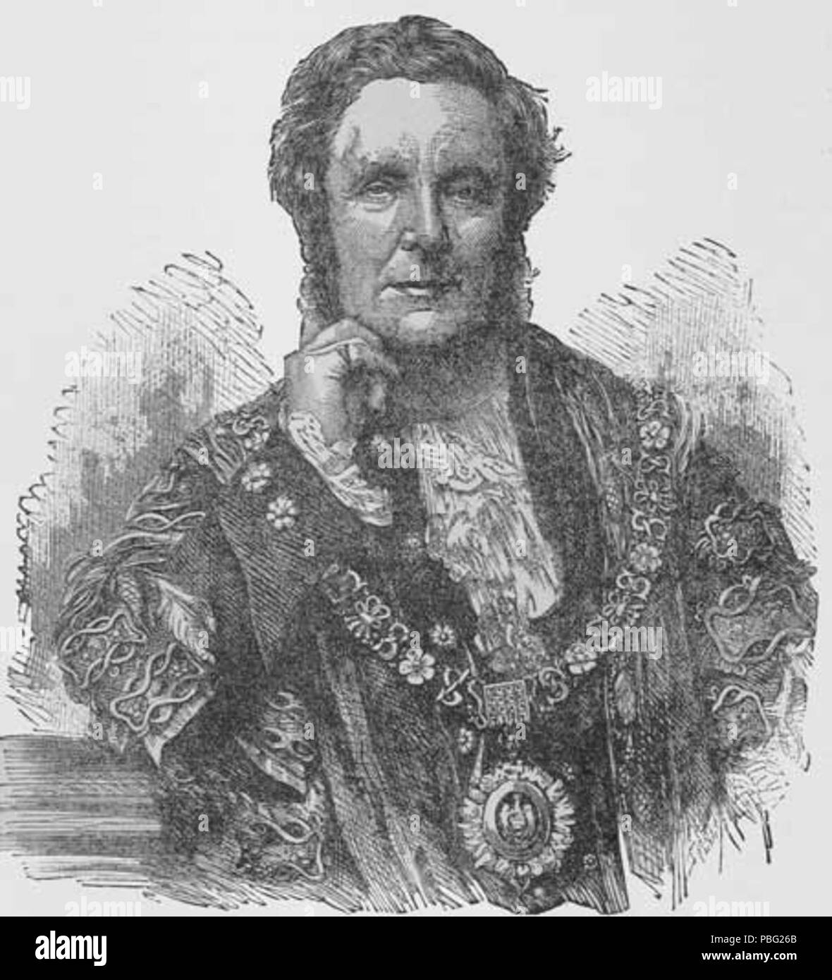1540 Sir Sydney Waterlow, Lord Mayor of London in 1873 - Stock Image