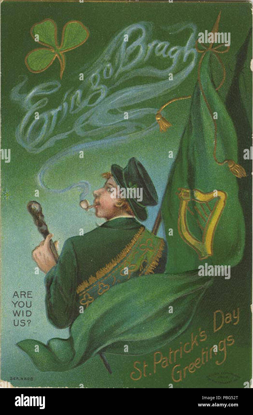 1566 st patricks day greetings irish man smoking a pip and the 1566 st patricks day greetings irish man smoking a pip and the smoke spells out erin go bragh nby 18225 m4hsunfo