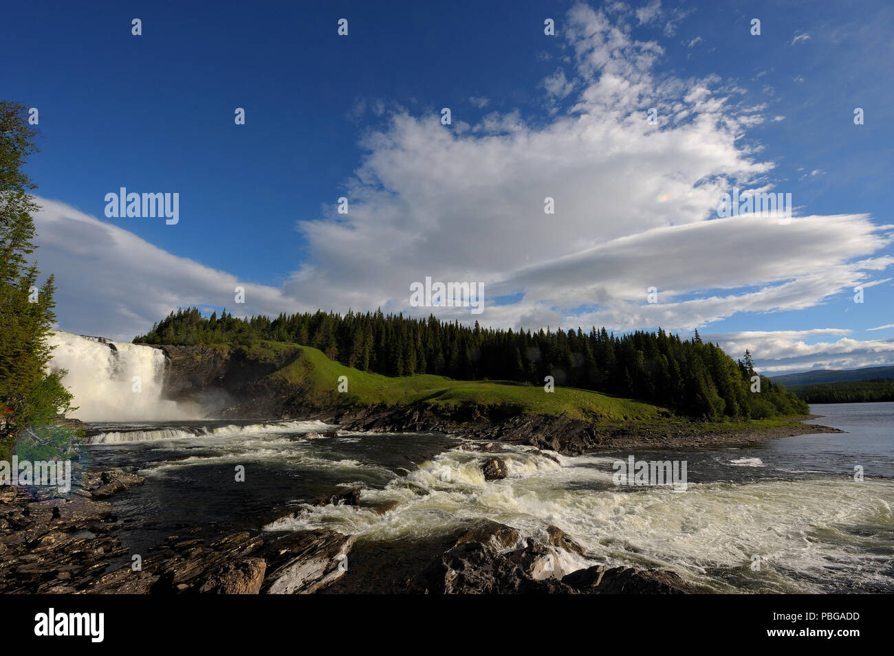 Tännforsen Waterfall in Sweden - Stock Image