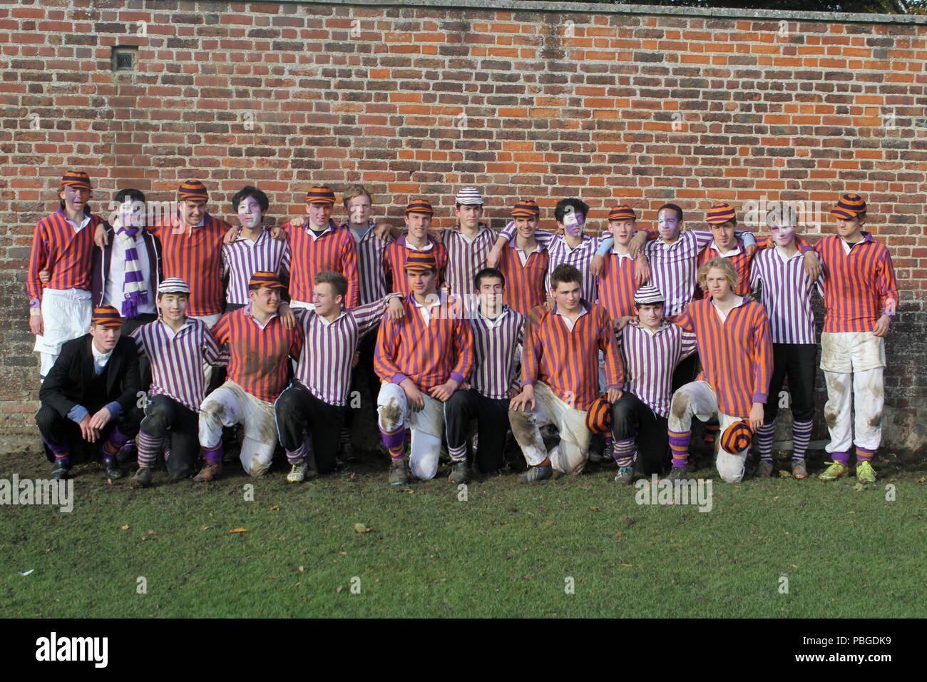 Eton College Wall Game 250th Year - Stock Image