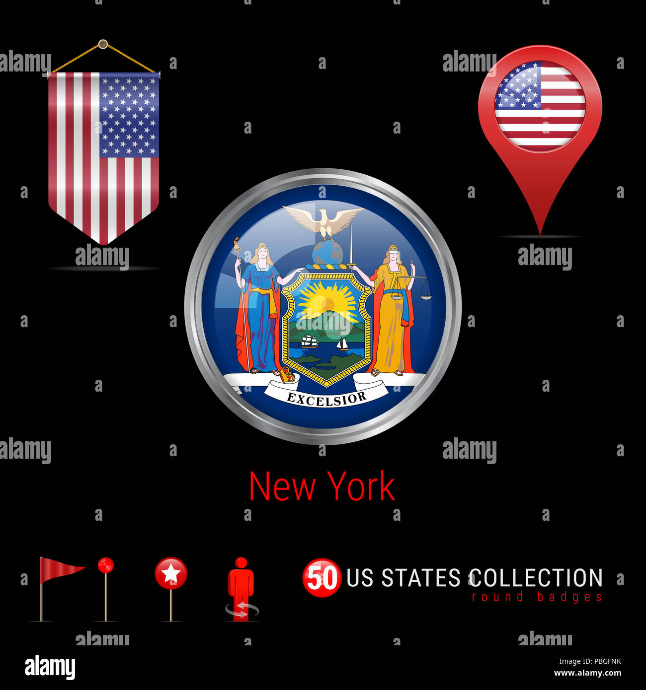 New York State Map Stock Photos & New York State Map Stock Images ...