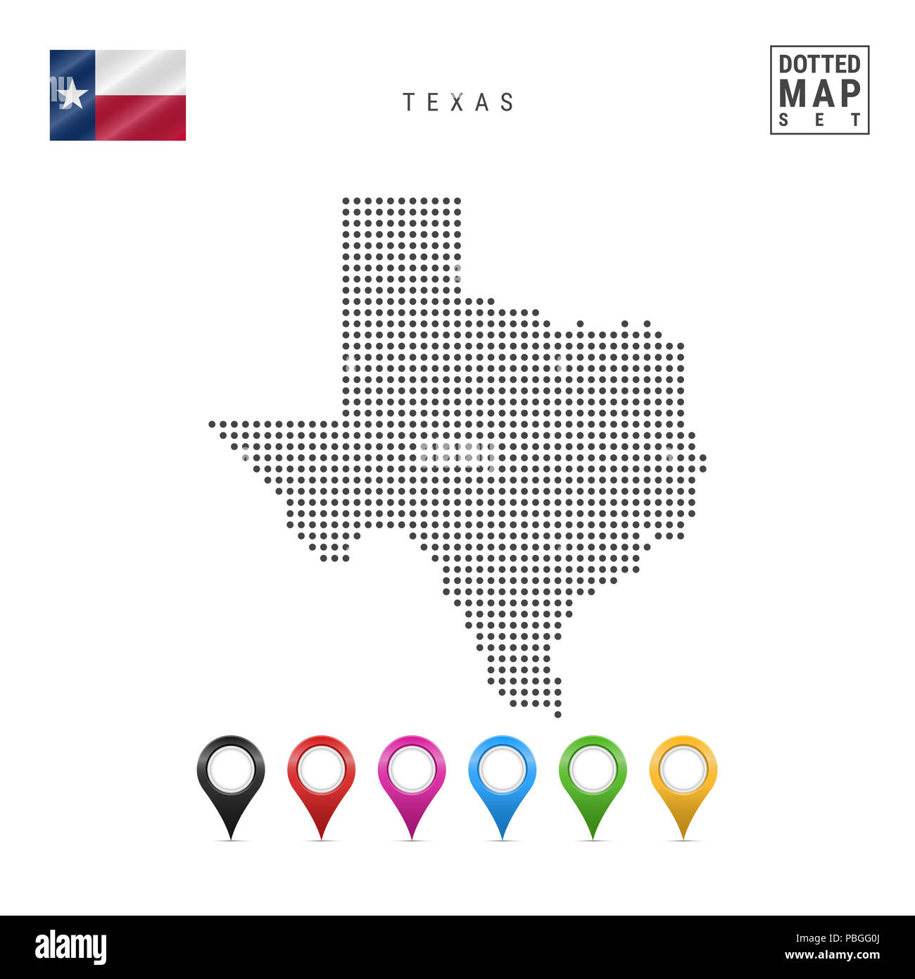 Texas Territory Stock Photos Images Alamy Gg Wiring Diagram Dots Pattern Map Of Stylized Simple Silhouette The Flag