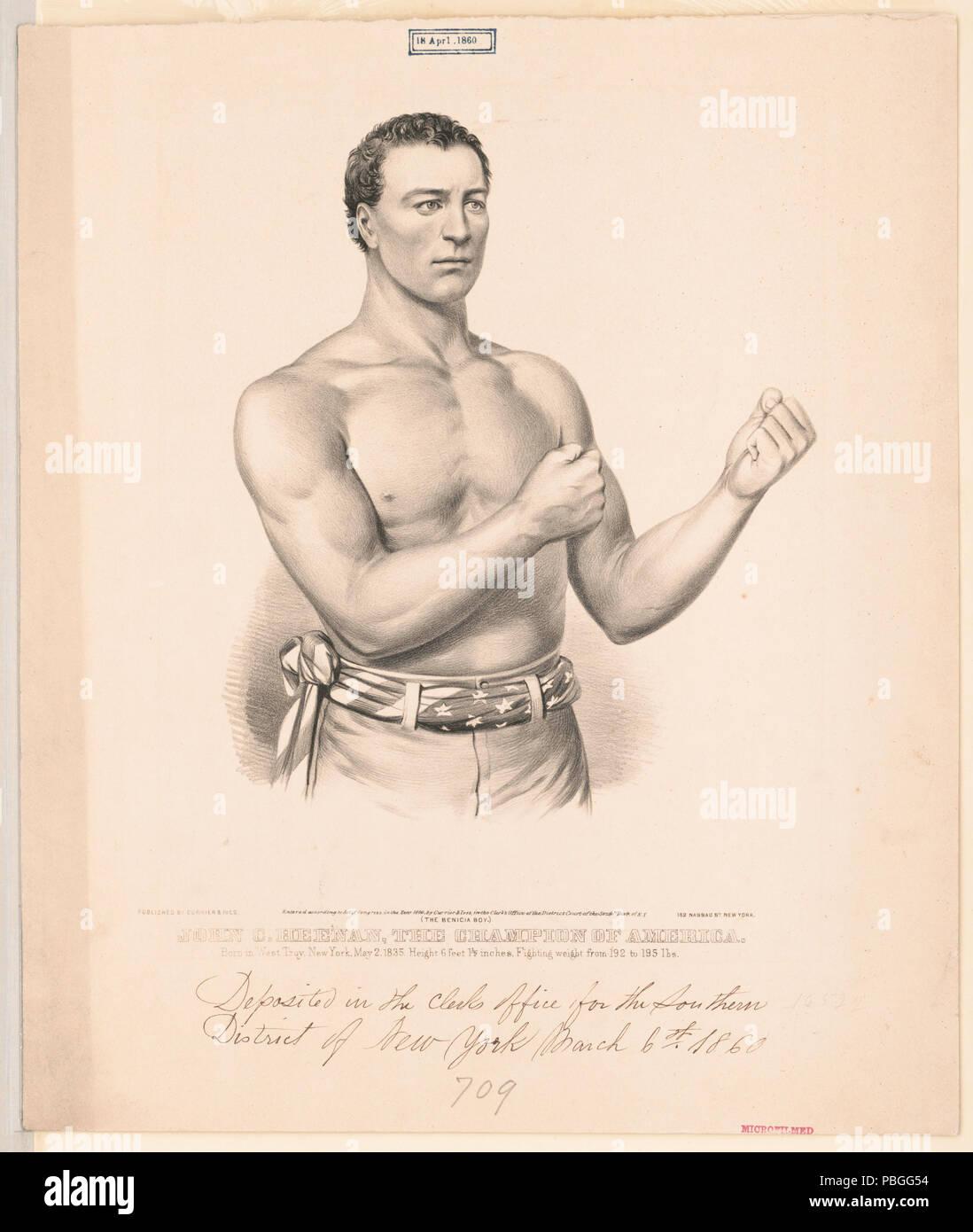 "836 John C. Heenan, the champion of America- (""the benicia boy"") LCCN2002707679 - Stock Image"