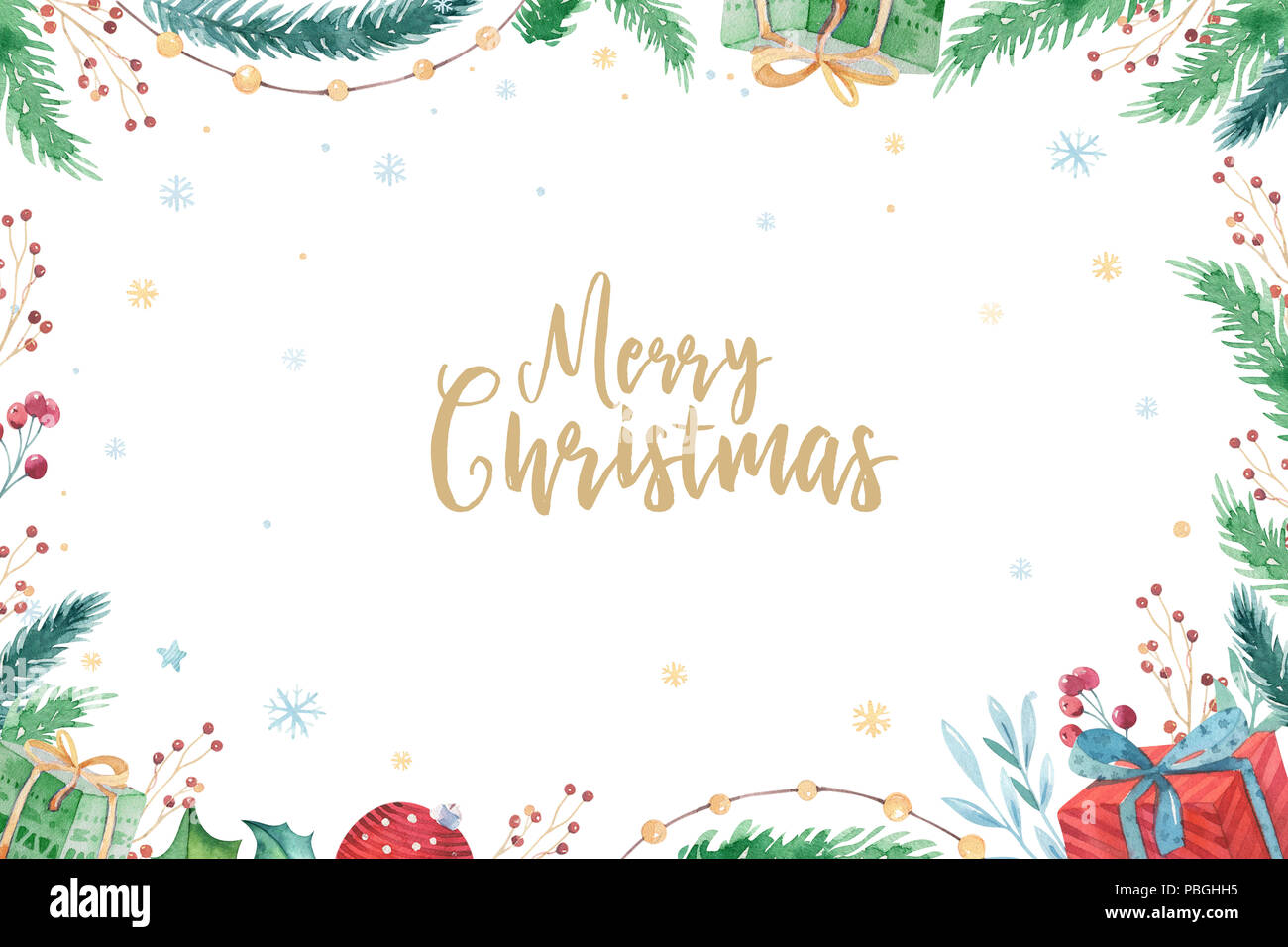 Merry Christmas and Happy New Year 2019 decoration winter set ...