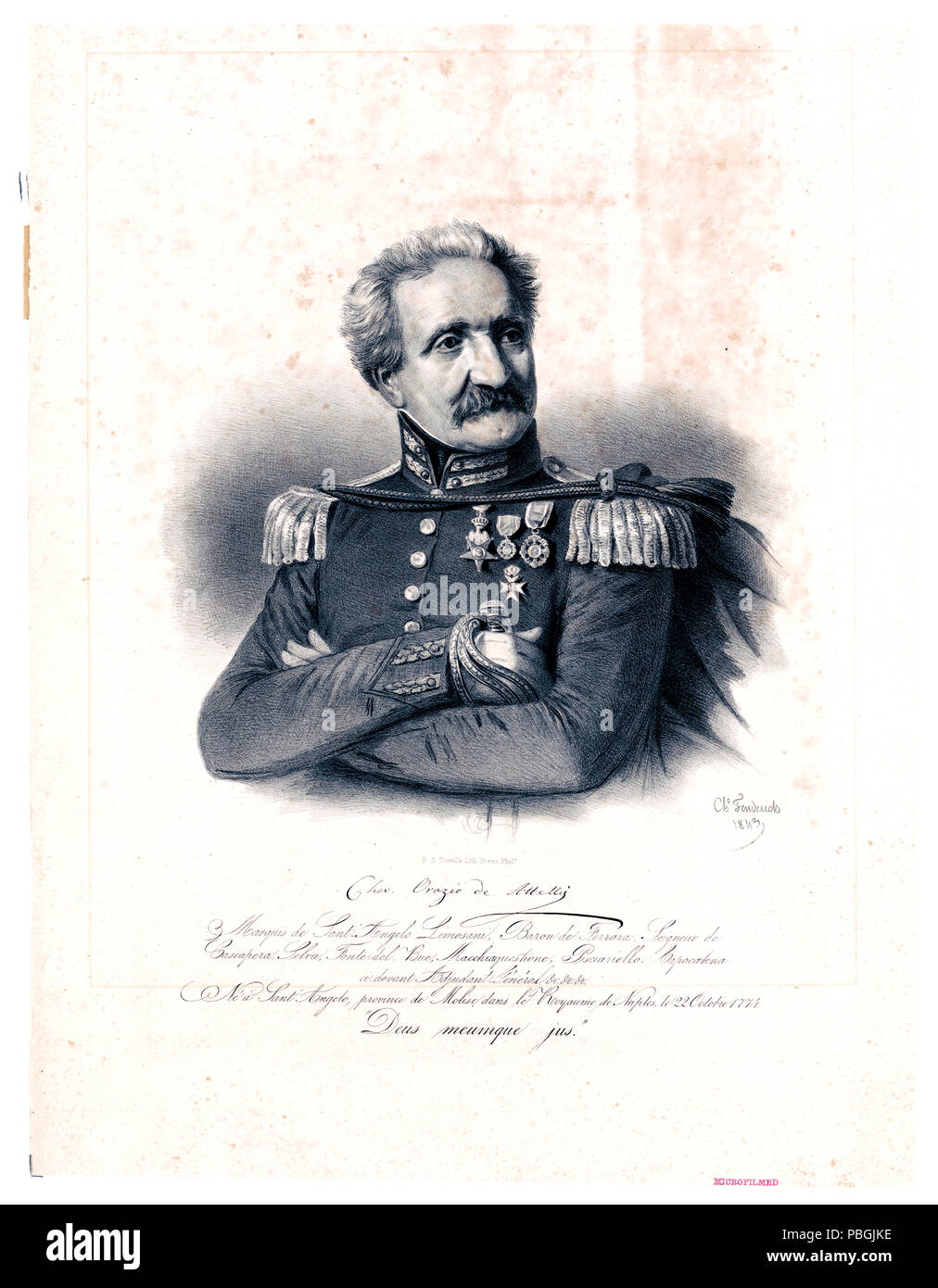 Orazio [Donato Gideon] de Attellis Santangelo, Italian-American patriot, soldier, and political journalist - Stock Image