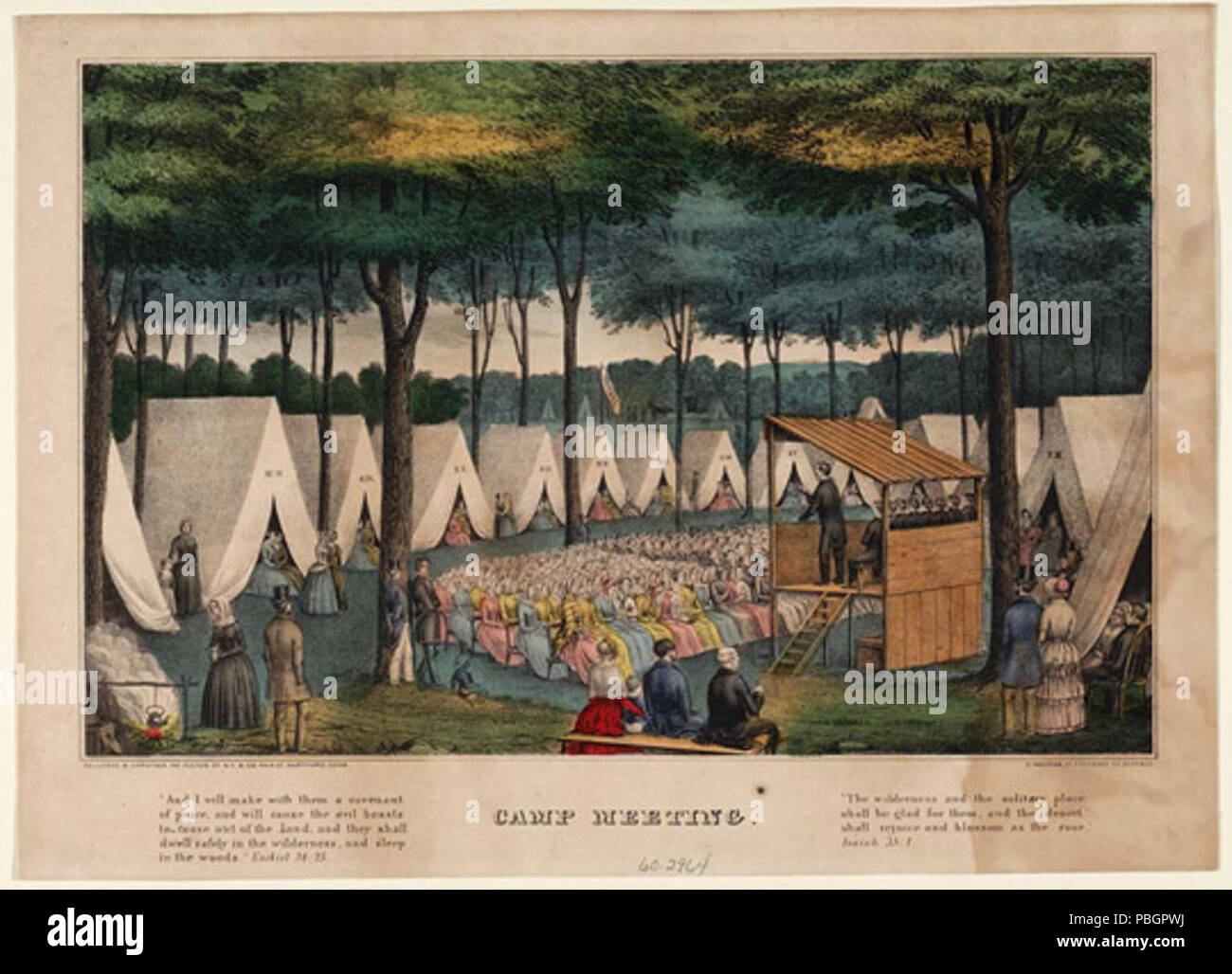 English: Tent revivals were a hallmark of the Second Great