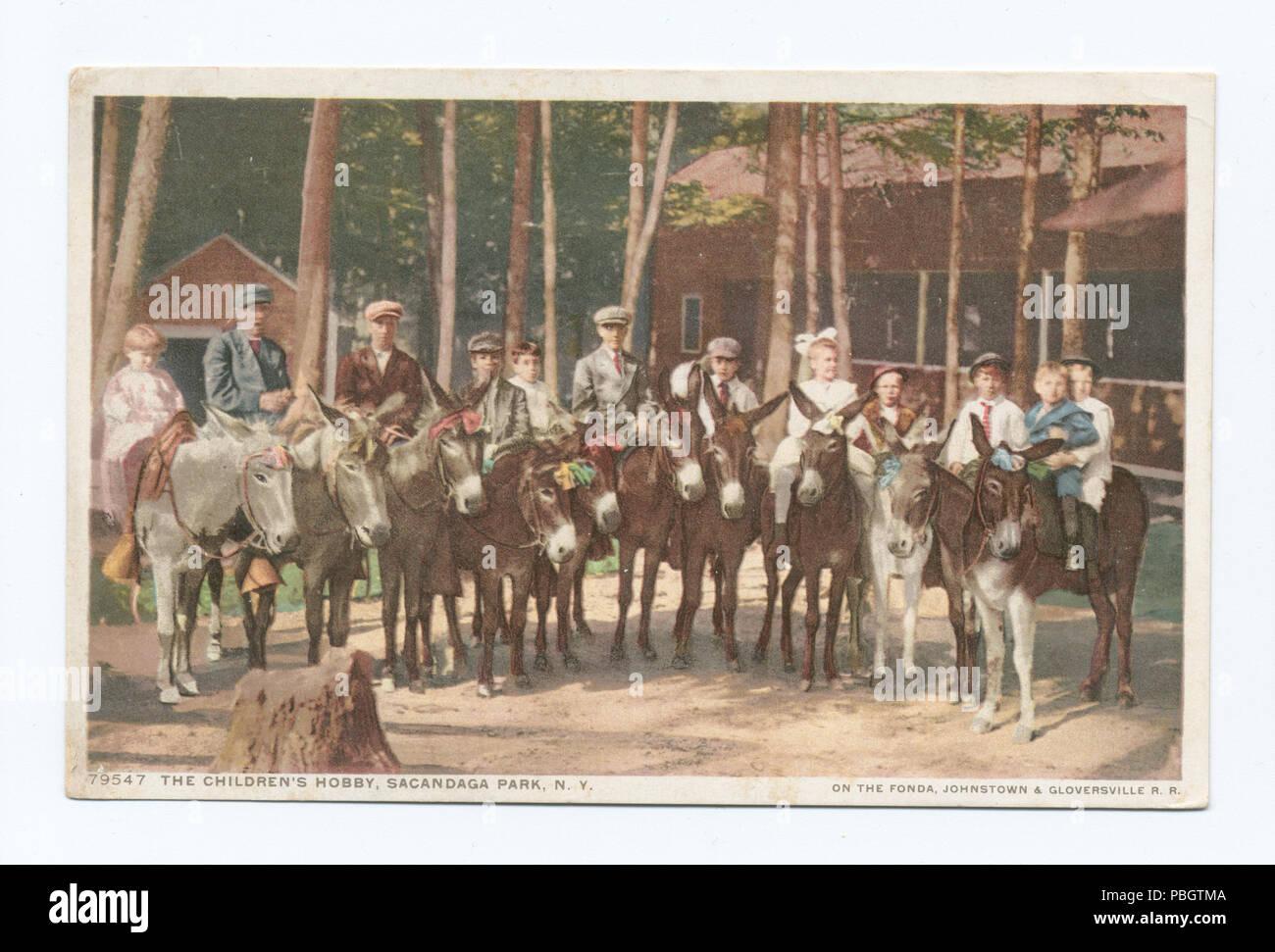 1622 The Children's Hobby, Sacandaga Park, N.Y (NYPL b12647398-74520) - Stock Image
