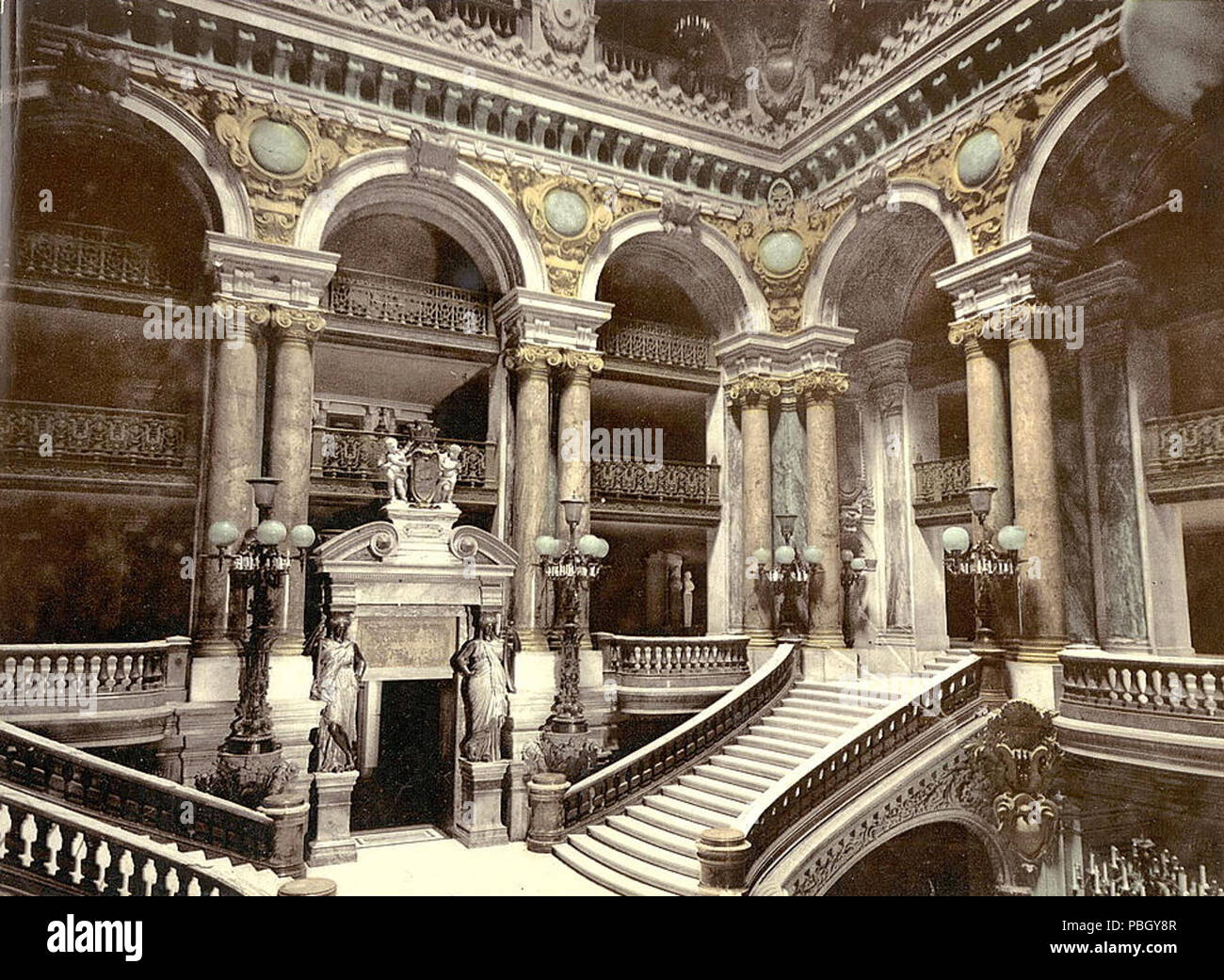 1651 The Library of Congress - (Opera House staircase, Paris, France) (LOC)