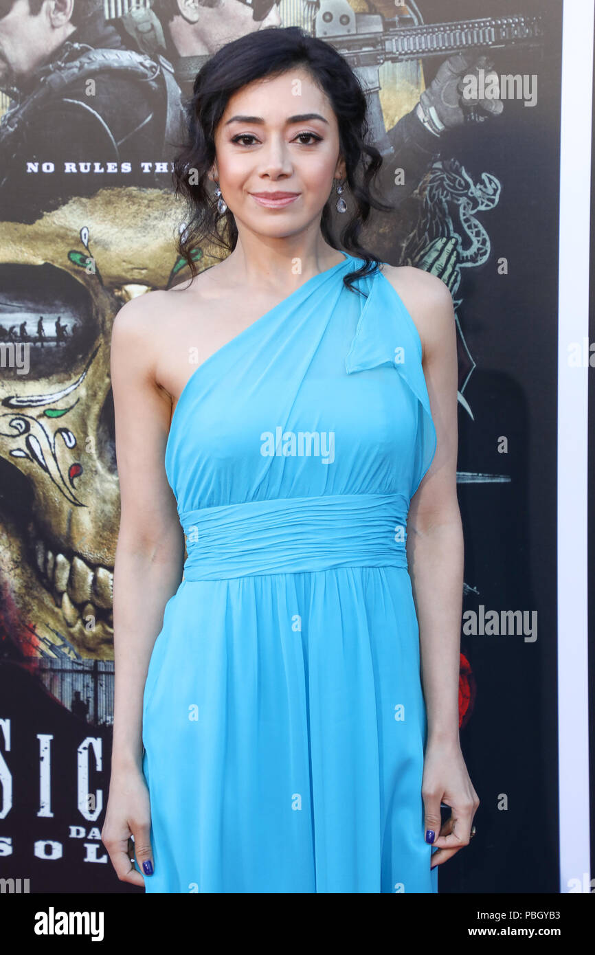 Premiere of 'Sicario: Day of the Soldado' held at the Westwood Regency Theater in Los Angeles, California  Featuring: Aimee Garcia Where: Los Angeles, California, United States When: 26 Jun 2018 Credit: Sheri Determan/WENN.com Stock Photo