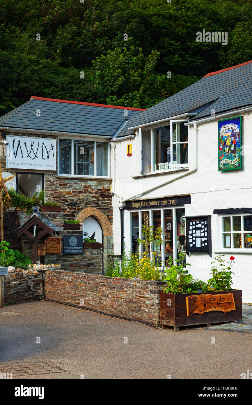2 July 2018: Boscastle, Cornwall, UK - The Museum of Witchcraft. - Stock Image