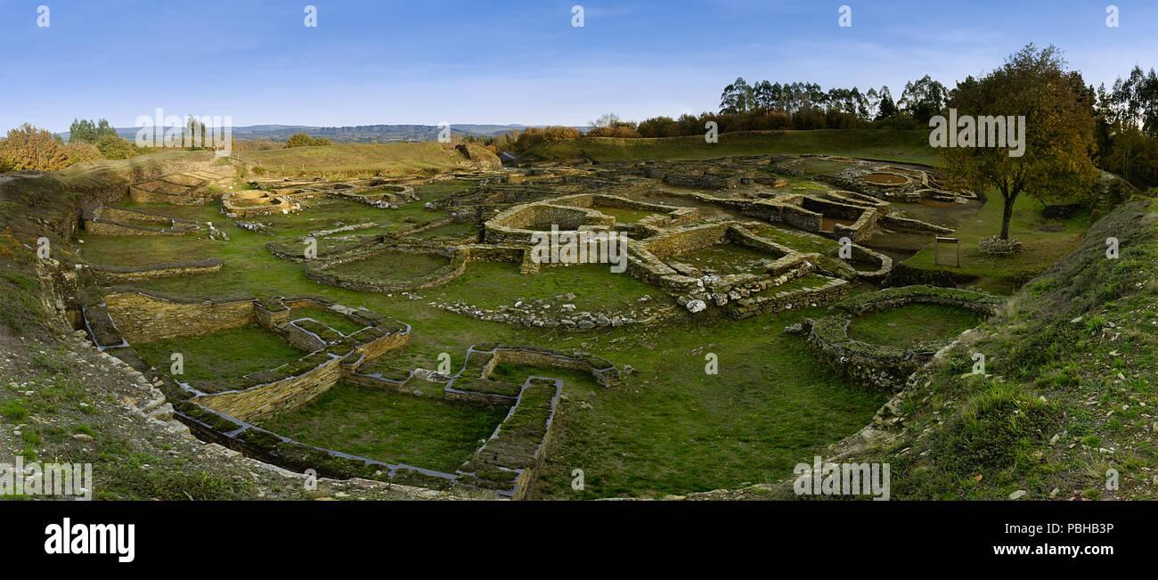 El Castro de Viladonga, castro galaico-romano perteneciente a la cultura castrexa, en Castro de Rei - Stock Image
