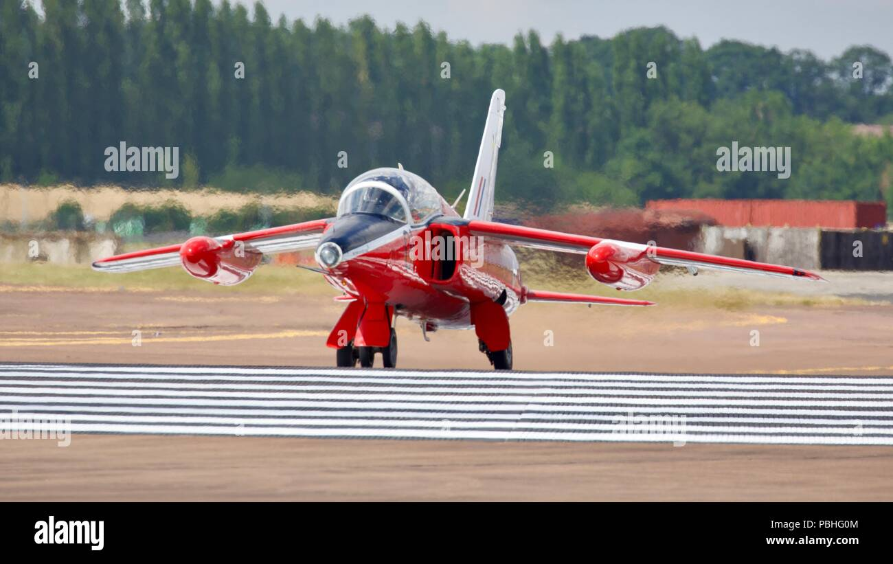 Folland Gnat - British subsonic fighter aircraft once used by the RAF Red Arrows aerobatic team from 1965 - 1979 - Stock Image