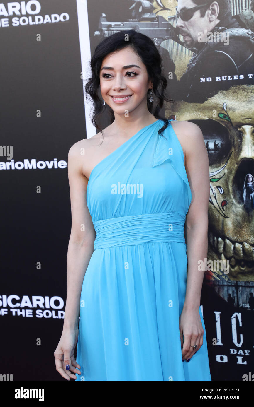 Premiere of 'Sicario: Day of the Soldado' held at the Westwood Regency Theater  Featuring: Aimee Garcia Where: Los Angeles, California, United States When: 26 Jun 2018 Credit: Sheri Determan/WENN.com Stock Photo