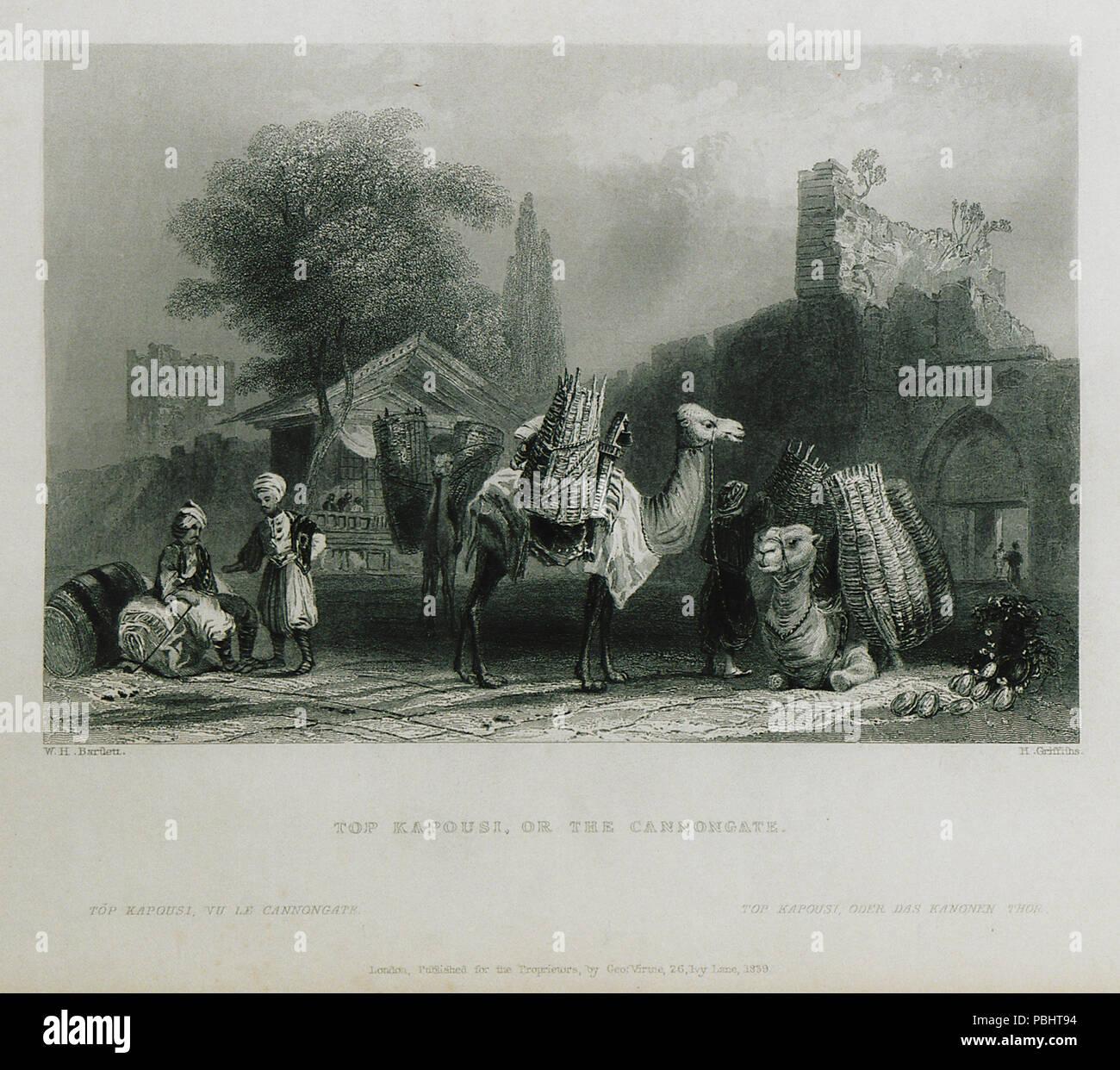 1756 Top kapousi, or the Cannongate - Pardoe Julia - 1838 Stock Photo