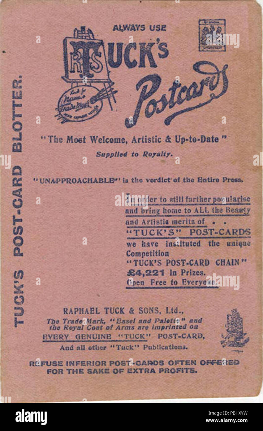 1776 Tuck's postcard blotter, an advertisement pamphlet of the types