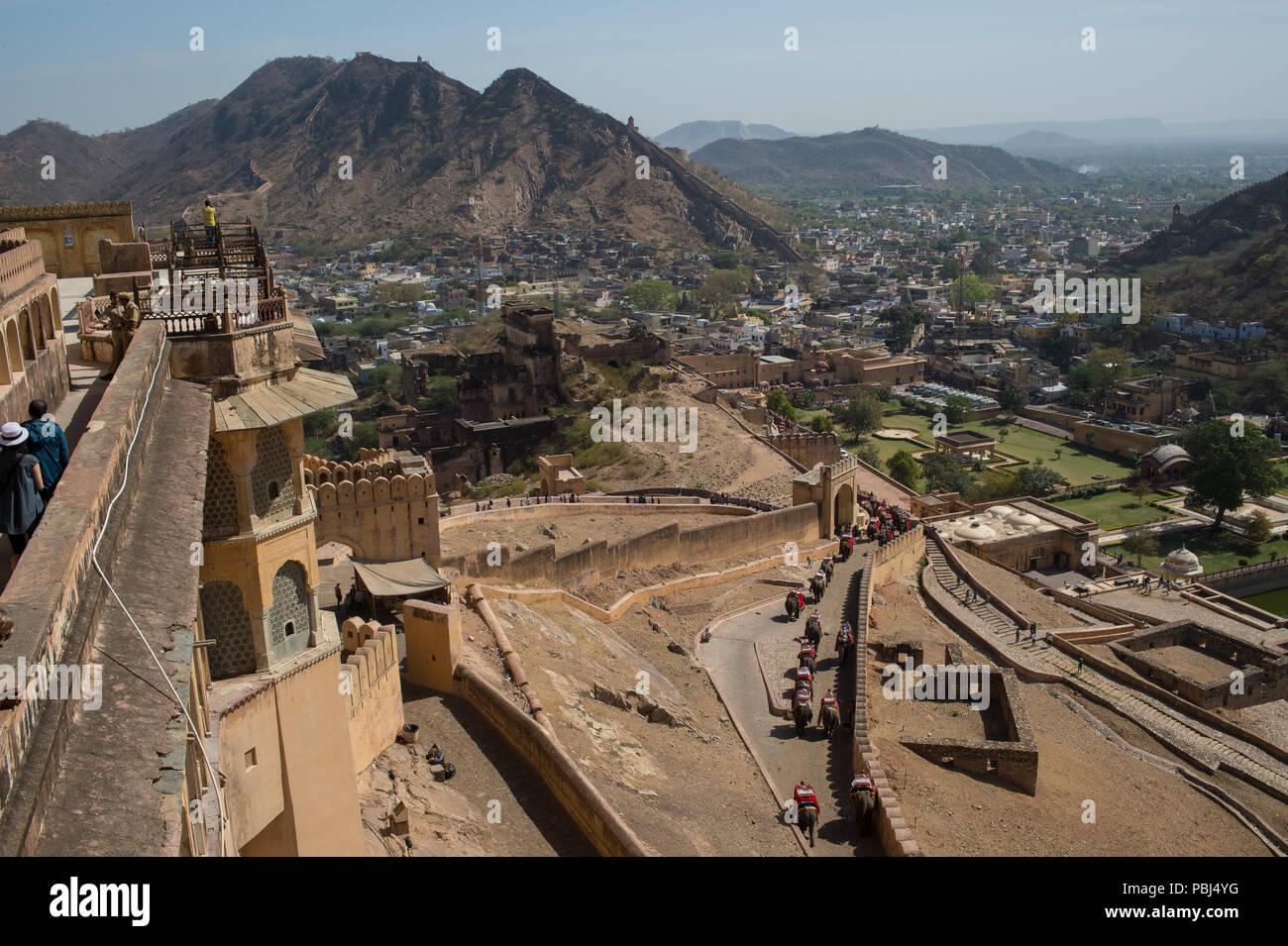 Amber Fort, Amer, Jaipur, Rajasthan, India, Asia. - Stock Image