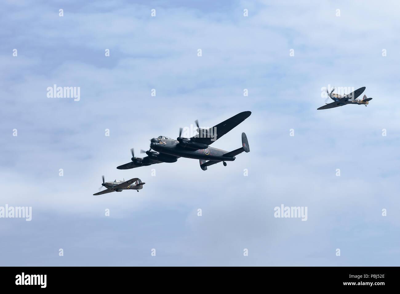 The Battle of Britain Memorial Flight, RAF Fairford, 2018 - Stock Image