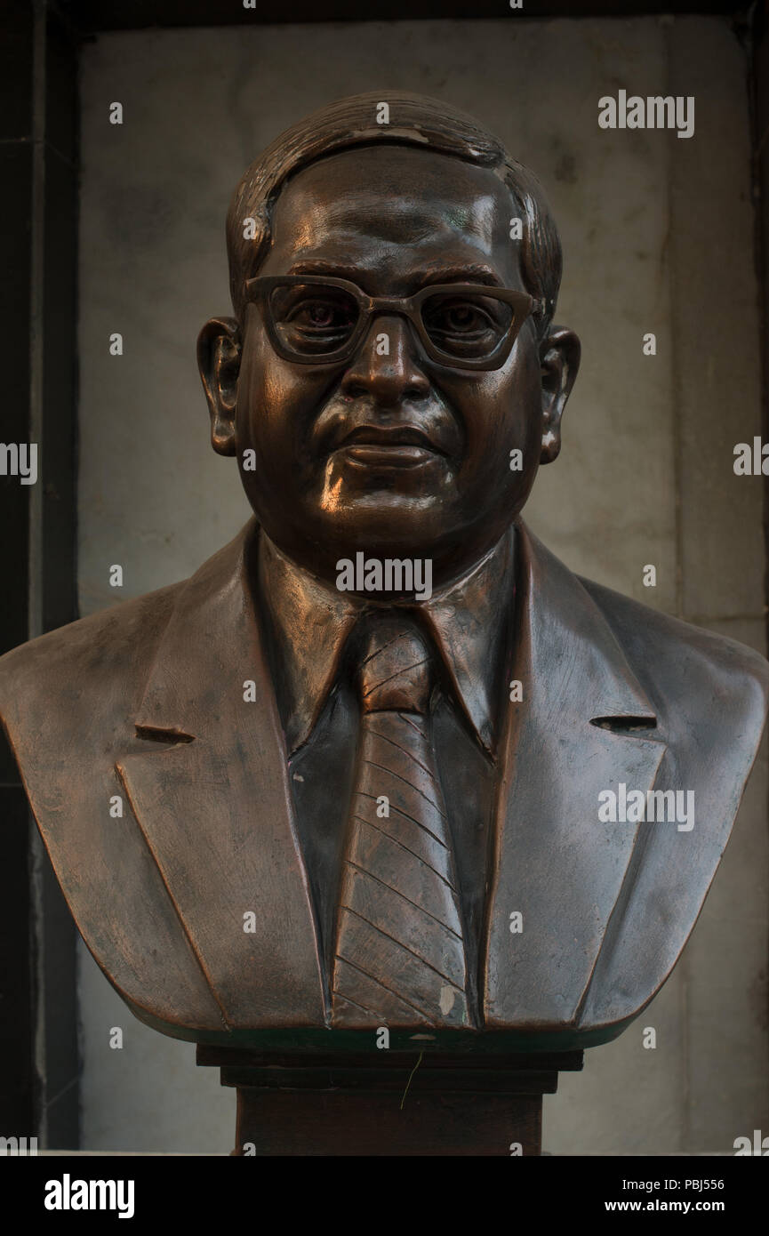 Statue of Dr. B. R. Ambedkar, an indian politician Dalit (Untouchables) strongly advocated for abolishing the caste system. Kolkata, India, Asia. - Stock Image