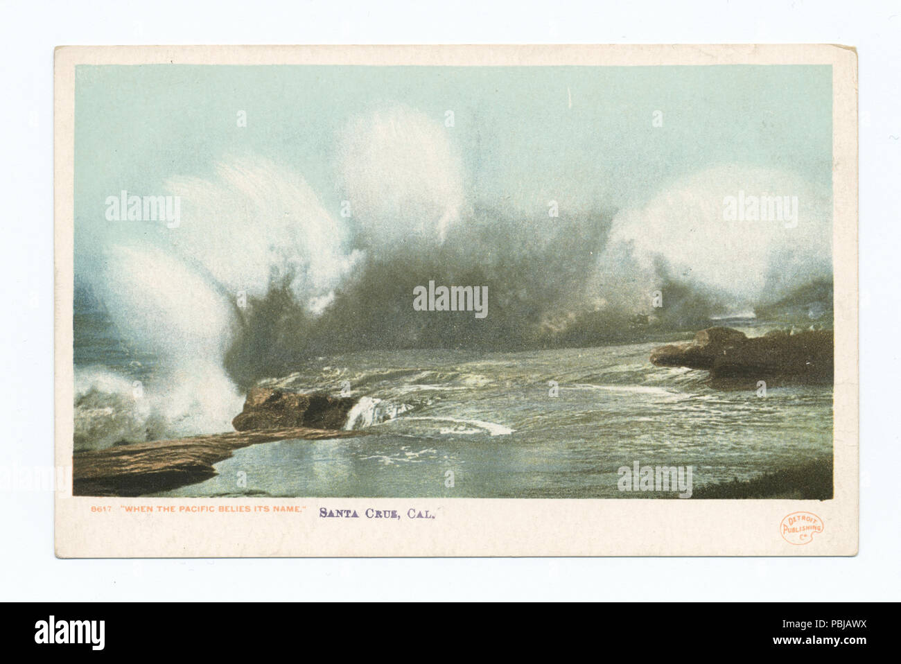 1847 When the Pacific belies its name, Santa Cruz, Calif (NYPL b12647398-67884) - Stock Image
