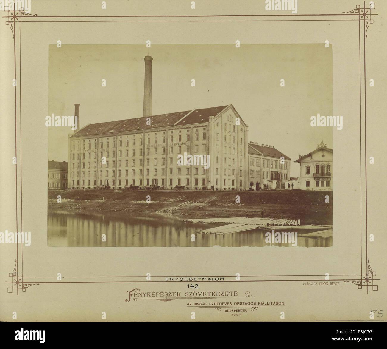 1883 Újpesti rakpart, Erzsébet gőzmalom. - Budapest, Fortepan 82210 - Stock Image