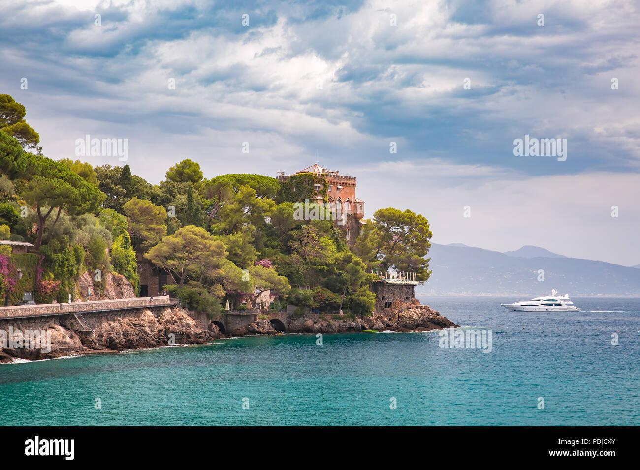 Seaview of Portofino, Italian Riviera, Liguria Stock Photo
