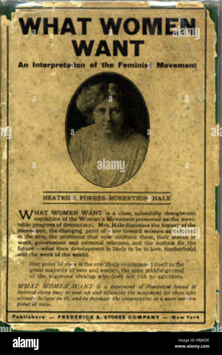 1845 What Women Want pamphlet Beatrice Forbes-Robertson Hale - Stock Image