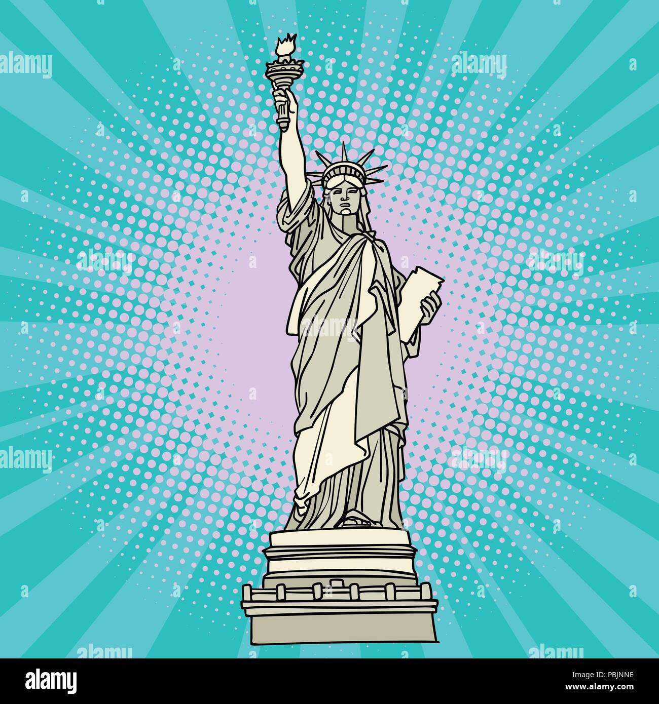 Statue of liberty. New York America Stock Vector