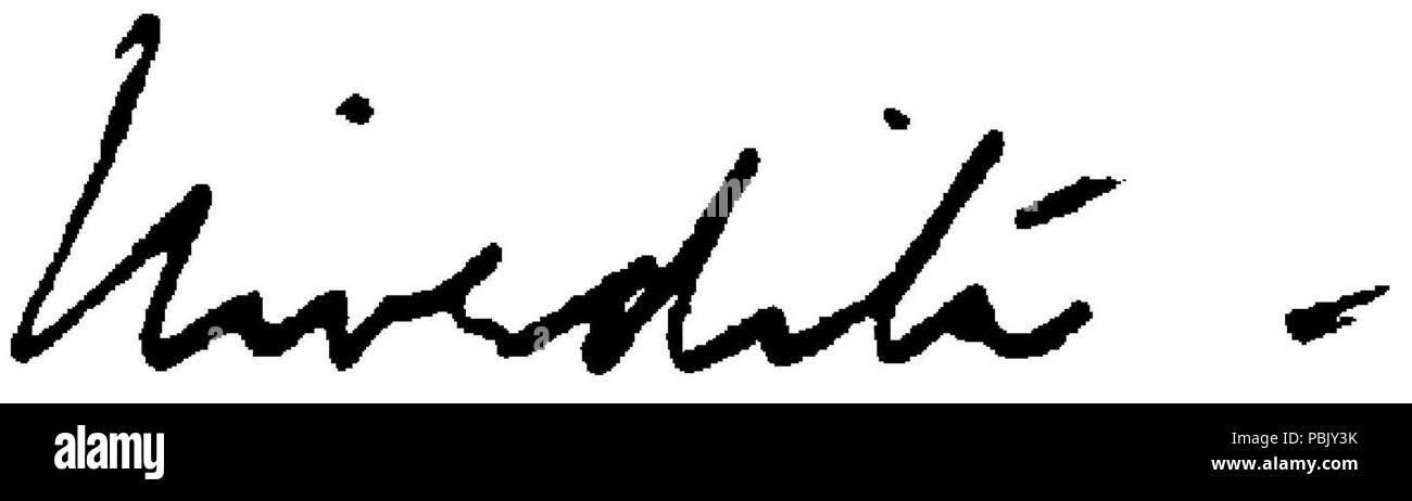 1905 নিবেদিতা - সরলাবালা দাসী (page 9 crop) - signature of Sister Nivedita - Stock Image