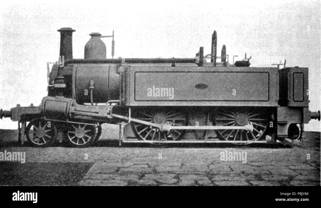 . English: Photograph of a Metropolitan Tank engine by Beyer, Peacock & Co. During or after 1864 1020 Metropolitan Tank engine - Stock Image