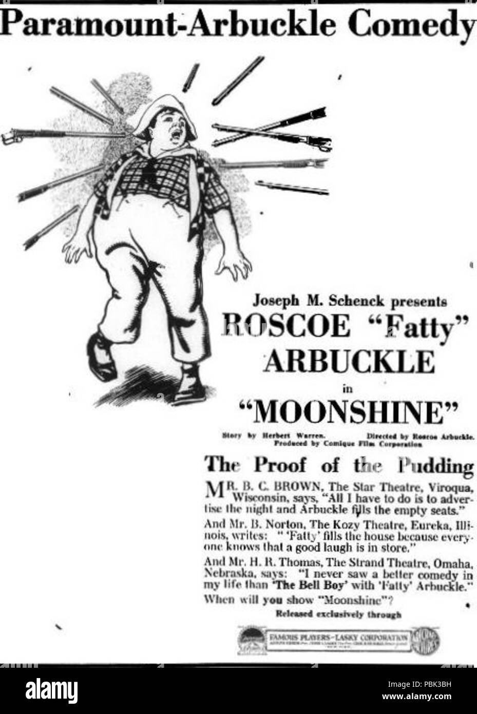 1058 Moonshine (1918) - 1 - Stock Image