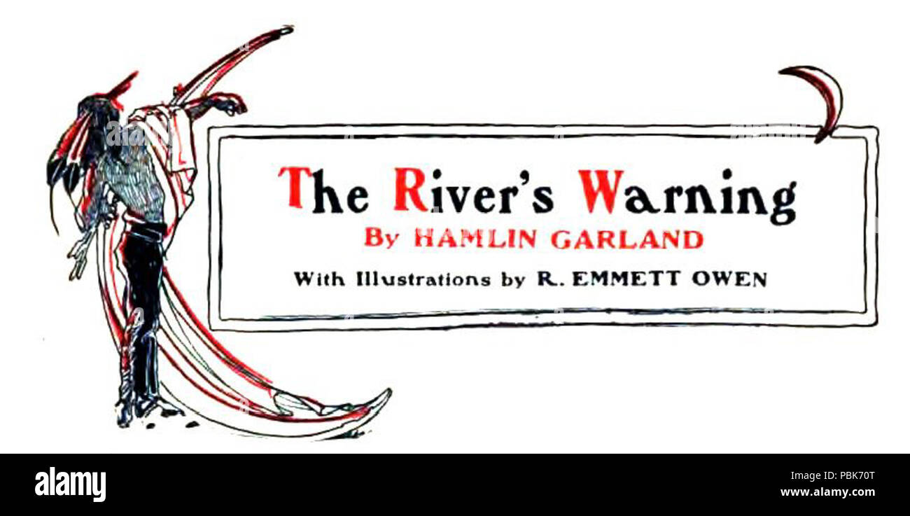 1150 P297, Popular Monthly, 1902--The river's warning - Stock Image