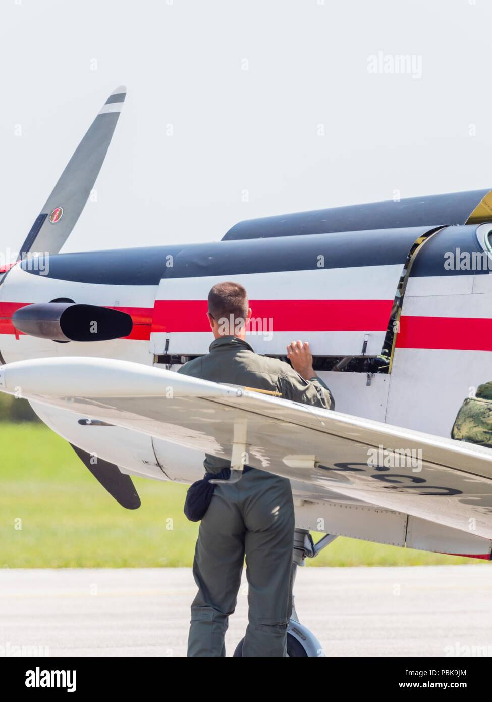 Krila oluje Wings of storm aerobatic group Croatia Croatian HRZ i PZO Stock Photo