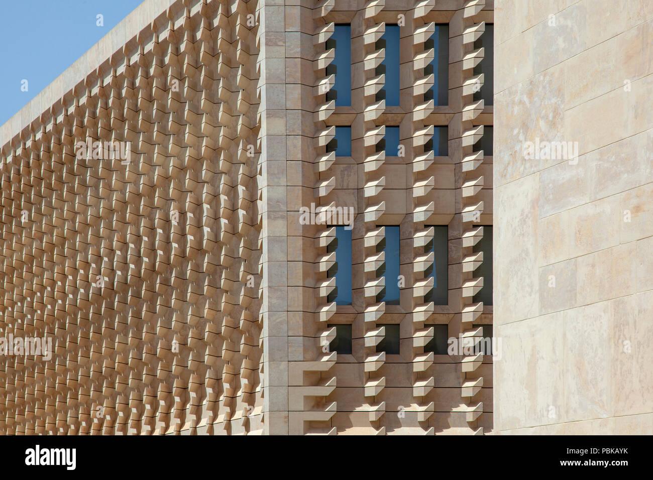 Gate of Valletta including New Parliament House, Valletta, Malta - Stock Image