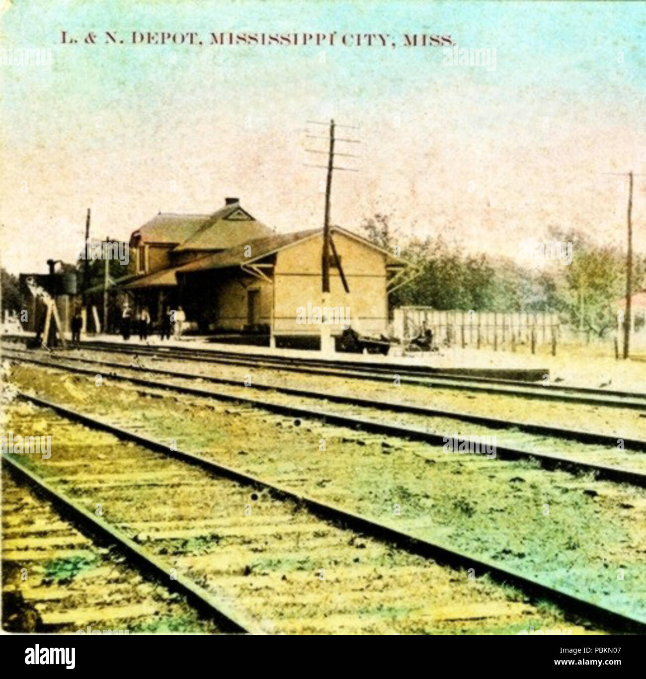 Train Station Mississippi Old Photo Louisville