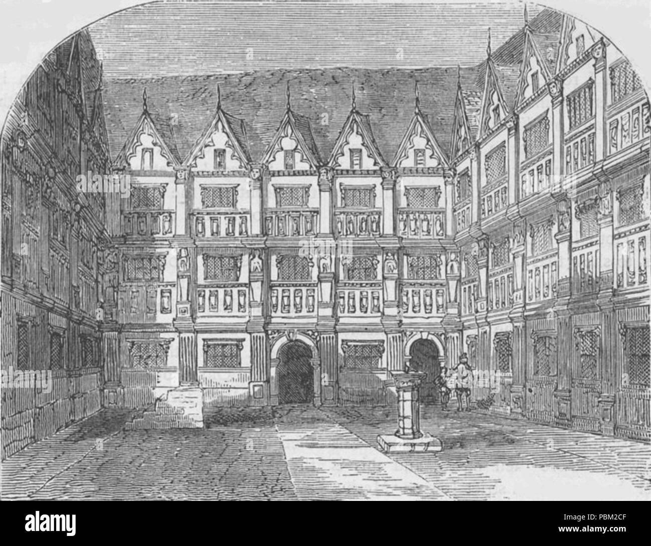 772 House of Sir Thomas Gresham in Bishopsgate Street - Stock Image
