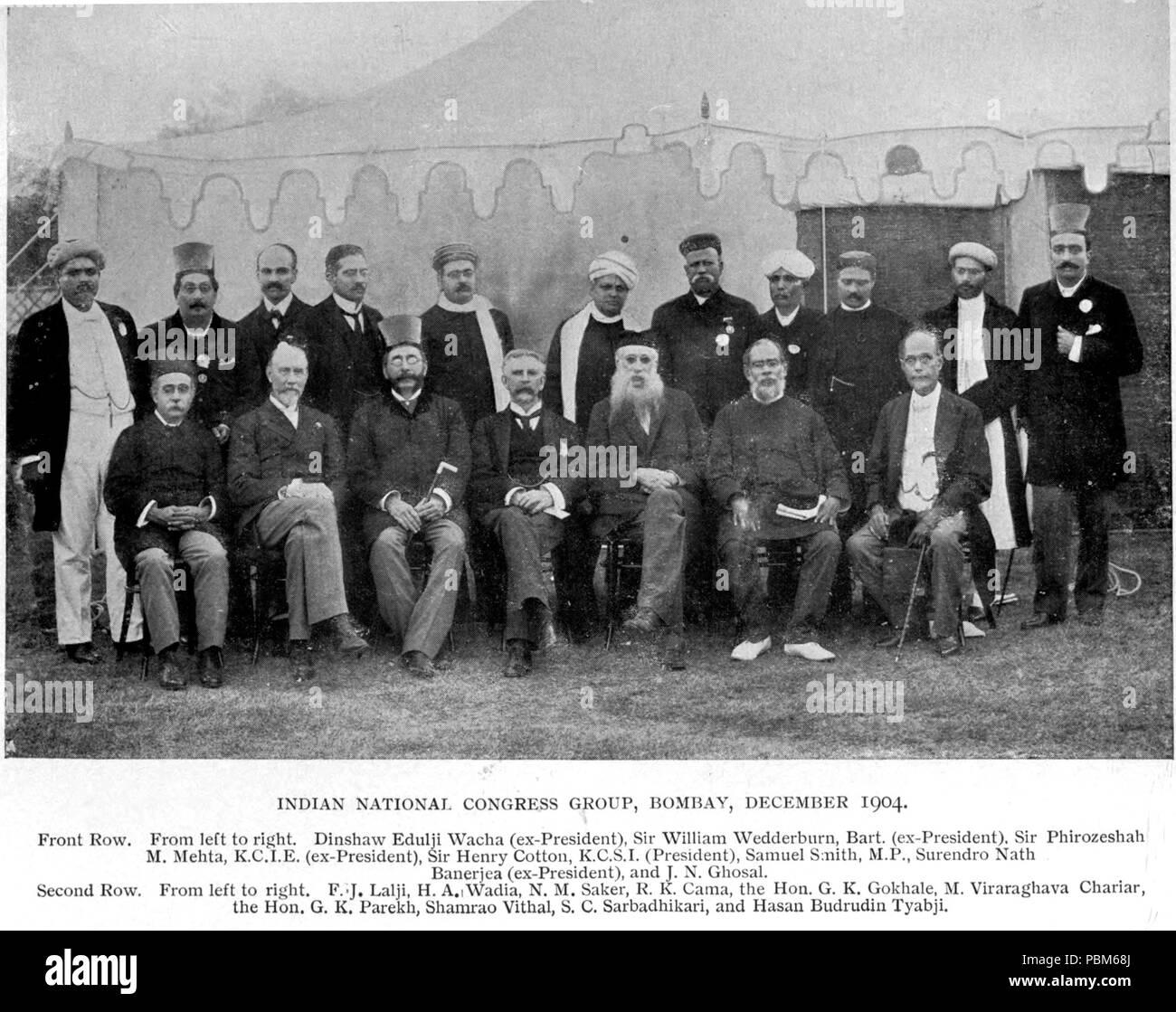 801 Indian National Congress 1904 - Stock Image