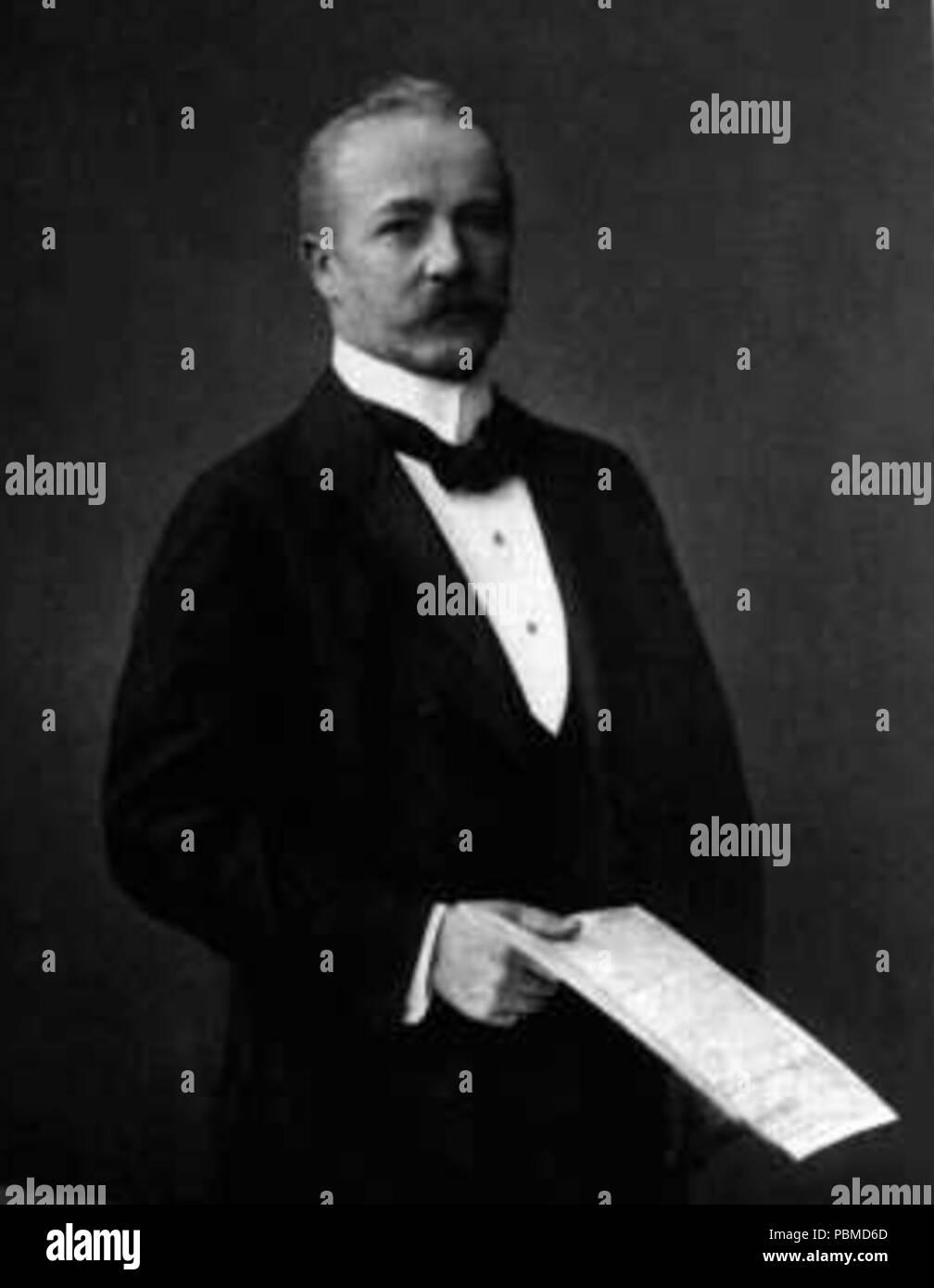 854 Karl Supf - german entrepreneur and colonialist - Stock Image